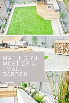 Making the most of a small garden, which is great as a family garden and having . Back Garden Design, Modern Garden Design, Backyard Garden Design, Modern Patio, Contemporary Garden, Patio Design, Small Backyard Landscaping, Small Patio, Privacy Landscaping