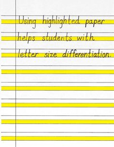 Paper to help with handwriting