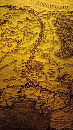 A3 the Map of World middle earth Lord of the rings POSTER #28