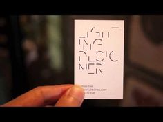This Lighting Designer's Business Card Is Only Visible In Bright Light
