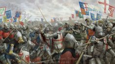 The Battle of Agincourt canvas print by Graham Turner