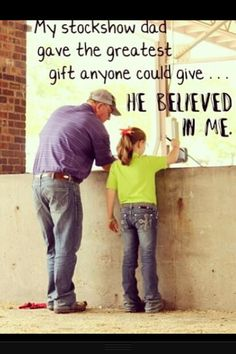 Reminds me of my dad and some special 4-H girls I know. So sweet.
