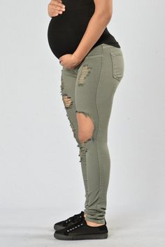 Our Glistening Jeans have been updated for our NovaMoms-to-Be! These jeans feature a full maternity panel which comfortably stretches over the belly to provide maximum coverage and support. - Availabl