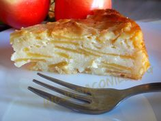 Torta cremosa di mele (con ricotta).