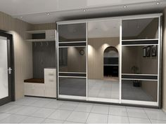 Красивые шкафы-купе в прихожую: фото, внутреннее наполнение, дизайн, размеры