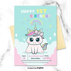 Convite De Aniversario Infantil Unicornio Dos Desenhos Animados Em 2020 Convites Do Unicornio Festas De Aniversario Unicornio Aniversario De Unicornio