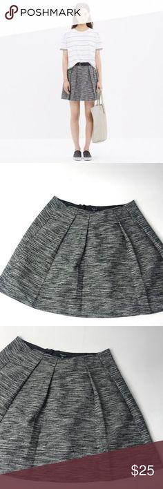976bbfd5aee05 Madewell Countdown Gray Women s Pocket Skirt Sz 4 Madewell Countdown Gray  Tweed look Pleated Women s Flare