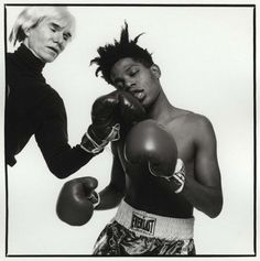 Andy Warhol & Jean-Michel Basquiat. Photo by Michael Halsband, 1985