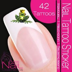 Amazon.com: Nail Tattoo Frog King with Crown - green: Beauty