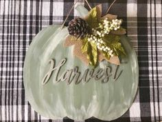 I made this cute Fall sign last weekend using things I found at my local Dollar Tree. It only takes a few minutes to put it all together. I started with th… Dollar Tree Pumpkins, Plastic Pumpkins, Pumpkin Stencil, Diy Pumpkin, Pumpkin Wreath, Pumpkin Crafts, Pumpkin Ideas, Image New, Diy Planter Box