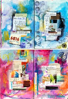 Gorgeous art journal pages by Daisy Yellow - Art Journaling: Art Without Rules