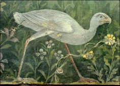 #Pompeii  --  Roman Fresco  (detail)  excavated from ruins in Pompeii.  Belonging to The National Museum  --  Rome, Italy