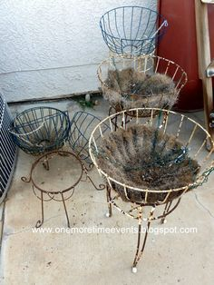 trash to treasure wire plant stands before
