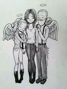 Beth, Maggie and Hershel Greene