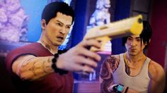 Screenshot of Sleeping Dogs on Xbox 360.  I really liked this game. This is when Wei was taking over and being a BAMF :)