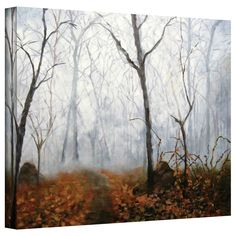 Autumn Mist by Marina Petro Painting Print on Gallery Wrapped Canvas
