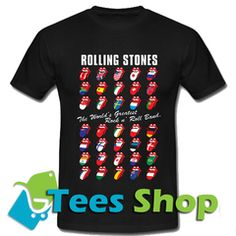 Rolling Stones Tongue The World's Greatest Rock N' Roll Band T Shirt