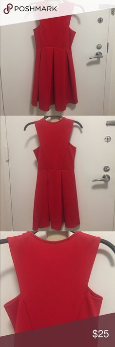 Red Everly Dress Worn once - in great condition! Everly Dresses
