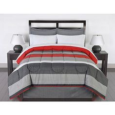 Colormate Complete Bed Set - Greyson Striped