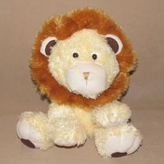 Little Miracles Costco Wholesale Cream Yellow Tan Brown Lion Plush Stuffed Toy #Costco