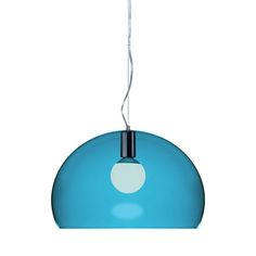 Discover the Kartell FL/Y Ceiling Light - Petrol Blue at Amara