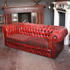 The Grandad Highland Wool Sofa Is Inspired By The Iconic Chesterfield  Design With A Bold Tartan Fabric Pattern #tartan #tartansofa #highlandwool  | For The ...