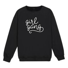 Girl Gang Sweater (150 RON) ❤ liked on Polyvore featuring tops, sweaters and sweatshirt
