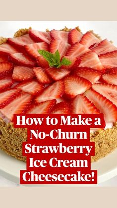 Cheesecake Ice Cream, Ice Cream Desserts, Frozen Desserts, Strawberry Puree, Strawberry Ice Cream, Strawberry Cheesecake, Quick Recipes, Baking Recipes, Dessert Recipes