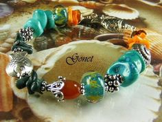 Bamboo Coral Bracelet  Makassar  (Coral Reef Collection)  by Gonet Jewelry Design