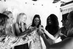Bride Naseem Cox enjoying a celebratory shot with her friends before she heads down the aisle. Bridal Hair And Makeup, Wedding Makeup, Hair Makeup, Destination Wedding, Wedding Day, Tulum, Vacation Spots, Natural Makeup, Big Day