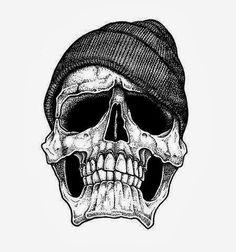 Tatuajes de calaveras hipster 12