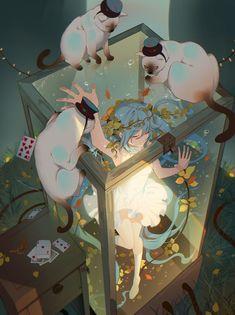 Hatsune Miku Vocaloid Anime In Resolution Fantasy Anime, Fantasy Art, Anime Art Girl, Manga Art, Anime Girls, Pretty Art, Cute Art, Japon Illustration, Image Manga