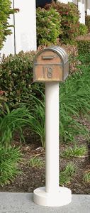 The Standard Mailbox Post & Westchester Brass Mailbox with Locking Insert Option by Streetscape Mailboxes is on sale now. New Mailbox, Victorian Mailboxes, Copper Mailbox, Custom Mailboxes, Mounted Mailbox, Life Is Good, Outdoor Decor, Package Mailbox
