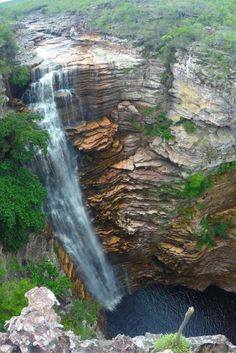 Buracao Waterfall in Chapada Diamantina National Park, Brazil