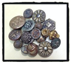 Vintage brass buttons-I'm obsessed w/ changing out buttons on coats!