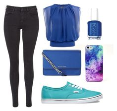 """""""All in Blue"""" by oanaciobanu on Polyvore featuring Maison Scotch, Vans, Essie and MICHAEL Michael Kors"""