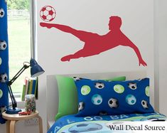 Soccer Wall Decal  Football Wall Decal  Boys by WallDecalSource, $49.00