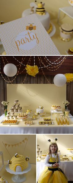 I'm thinking the tea party we will have for Riley's might have to have a bee theme! Bumble Bee Birthday, Baby Shower, Shower Cake, Bee Theme, Deco Table, 1st Birthday Parties, Birthday Sweets, Cake Birthday, Birthday Ideas