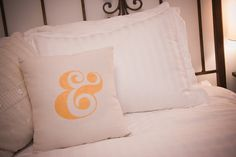 diy ampersand throw pillow | Lovely Indeed