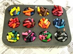 Leftover crayons