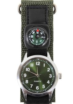 183fd8e0b1f7 Military Field Watch w  Compass Precise Reliable Olive Drab Wristwatch  Watches