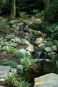Waterfall created by The Deck and Patio Company in Huntington Station, NY. #WaterfallWednesday