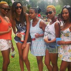 Chilled vibes with the girls..shorts and minis,shades and hair