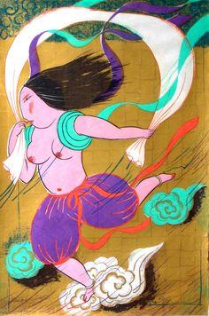 Woman Calendar Big Wind Goddess