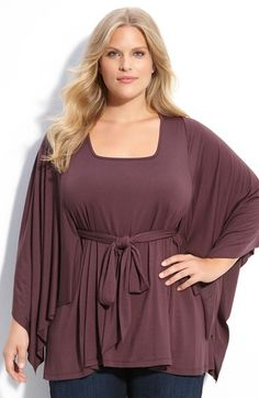 Free shipping and returns on Rachel Pally 'Angela' Tunic (Plus) at Nordstrom.com. A tie belt tunnels through the back an adds flattering definition to a poncho-style tunic in fluid stretch jersey.
