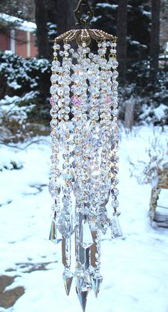 Enchanting Jeweled Crystals and Pearls Antique Wind Chime. $189.95, via Etsy.