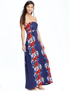 Women's Convertible Tube Maxi Dresses Product Image