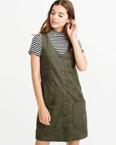 7fe992923a871f Suede Button-Up Dress Button Up Dress, College Outfits, Abercrombie Fitch,  Passion