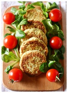 Cauliflower and chickpea patties with chia seeds