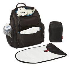 Bag Nation Diaper Bag Backpack with Stroller Straps, Changing Pad and Sundry Bag – Black Best Backpack Diaper Bag, Baby Diaper Bags, Sling Backpack, High Waisted Gym Leggings, Diaper Bag Essentials, Baby Changing Pad, Baby Supplies, Cool Backpacks, Backpacker